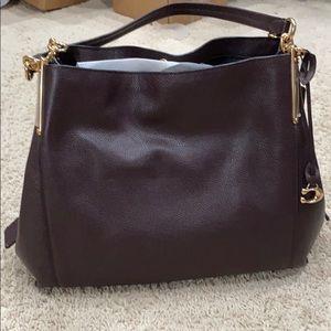 Plum Coach Shoulder Bag BRAND NEW